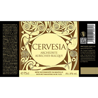5410702000713 Cervesia - 75cl Bottle conditioned beer  Sticker Front